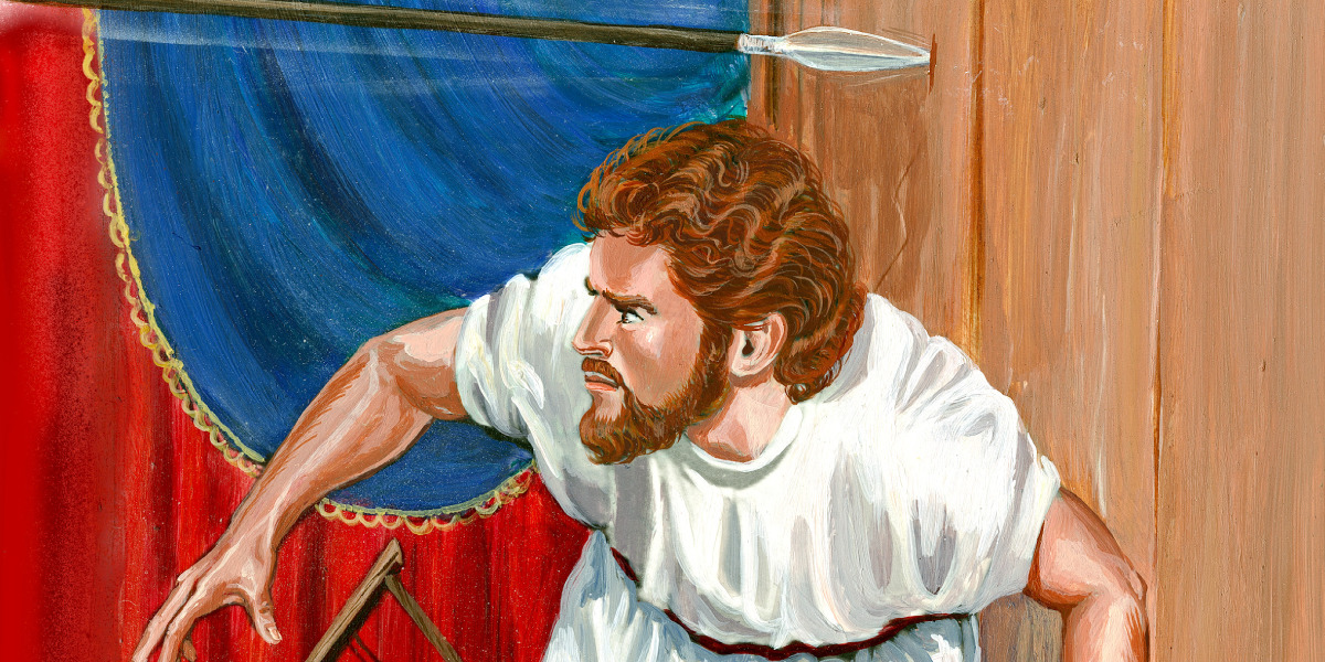 why david must run away from king saul bible story