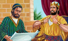King Josiah is distressed as he hears the law of God read to him