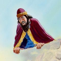 Kong Darius kigger ned i løvekulen