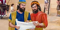 Nehemias og andre israelitter arbejder hårdt for at genopbygge Jerusalems mure