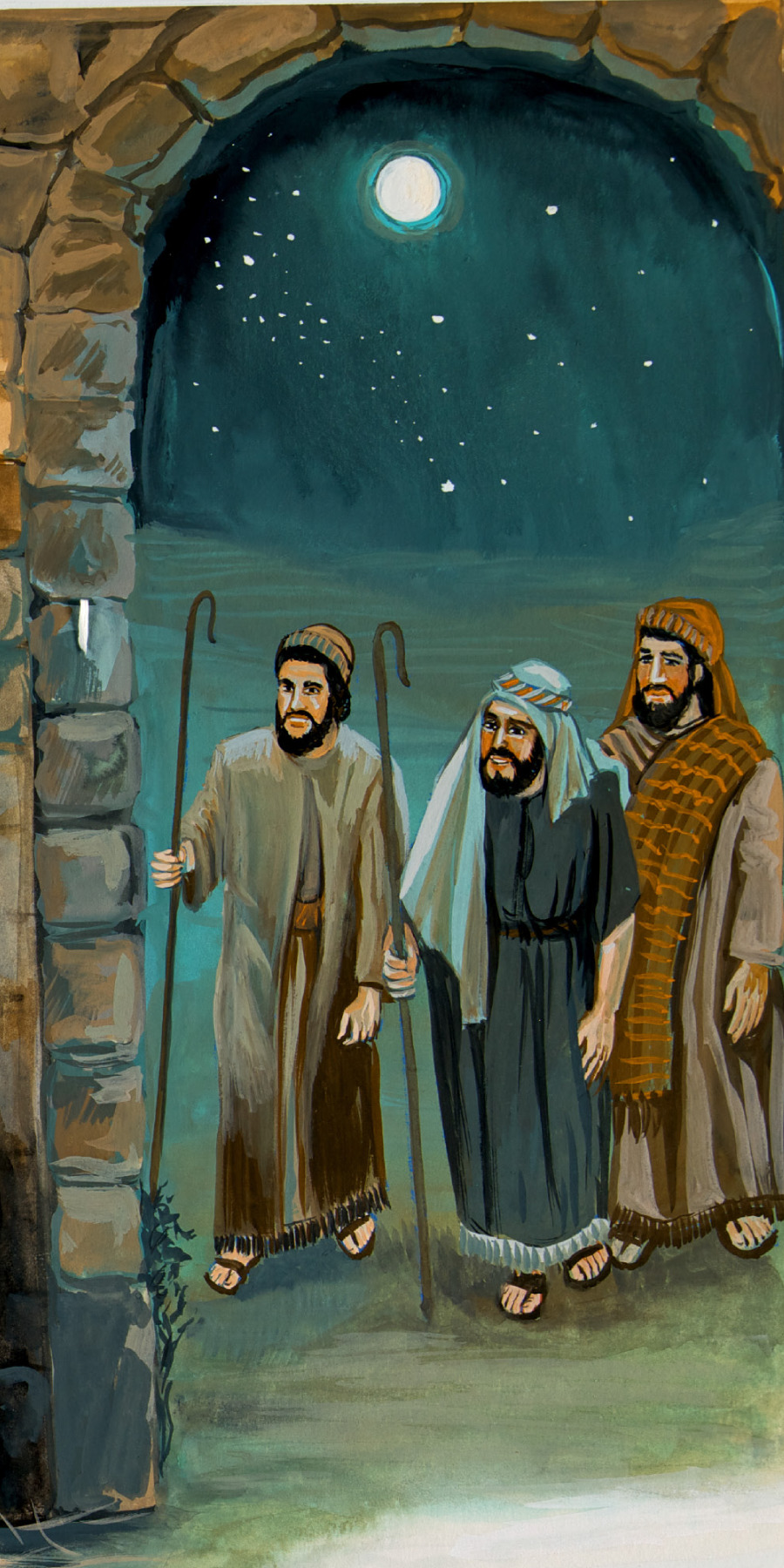 Para Gembala Tiba Di Betlehem Untuk Melihat Yesus