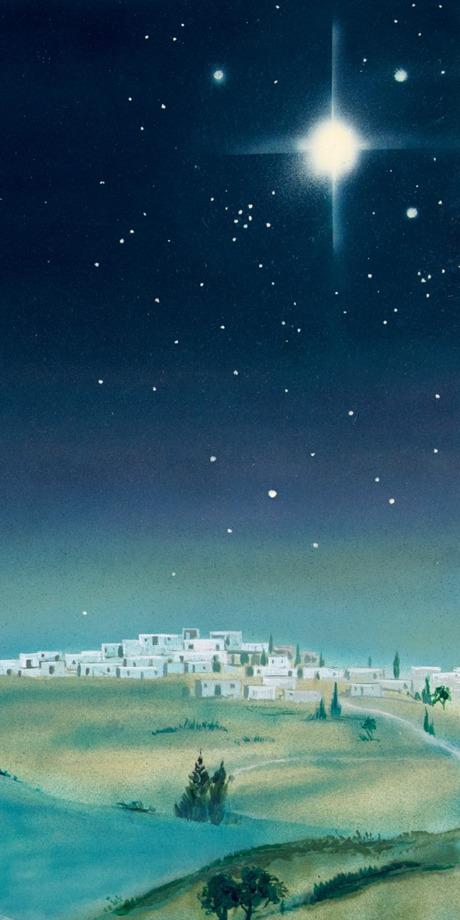 La stella luminosa nel cielo sopra Betleem