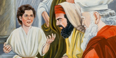 Young Jesus with the teachers in the temple