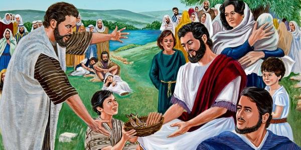 Jesus Feeds 5,000   Peter Walks on Water   Bible Story