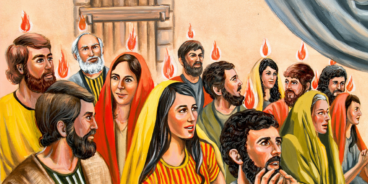 Tongues Of Fire Appear Above The Heads Disciples STORY 105
