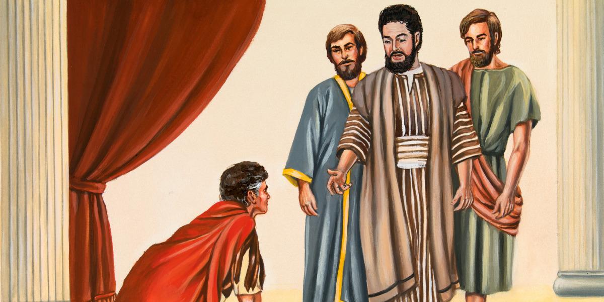 Un hombre solo se arrodilla ante dios