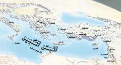خريطة بالاماكن التي زارها بولس وتيموثاوس