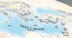 Harta e vendeve që vizituan Pavli dhe Timoteu
