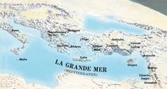 Carte des lieux où Paul et Timothée se sont rendus