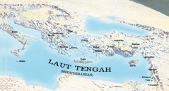 Peta menunjukkan tempat yang dilawat oleh Paulus dan Timotius
