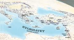 Kart over de stedene Paulus og Timoteus besøkte