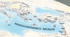 Zemljevid krajev, ki sta jih obiskala Pavel in Timotej.