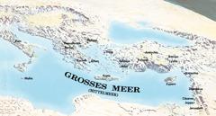 Orte, die Paulus und Timotheus besucht haben, auf einer Karte