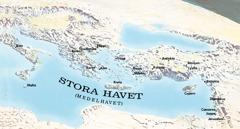 Karta över platser som Paulus och Timoteus besökte.