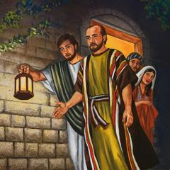 Paulus og Timoteus ser at Euʹtykus er styrtet i døden