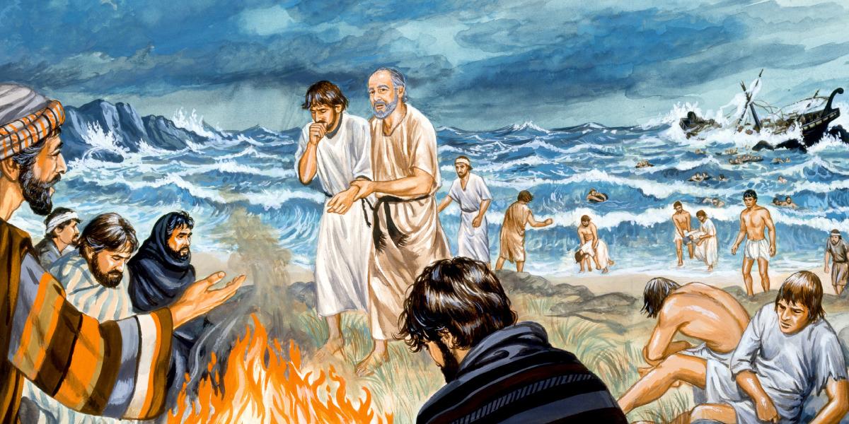 Pablo naufraga en la isla de Malta | Historia bíblica