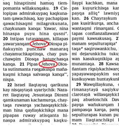 Musuq pachapi kawsaqkunapaq Diospa palabran bibliapim Diospa sutin rikurichkan