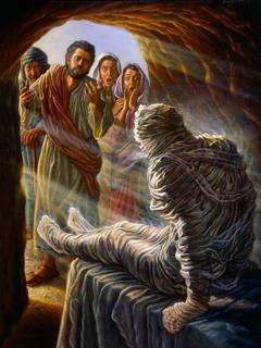 Jesus wek Lasarus op