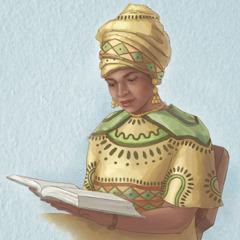 Wanfala woman readim Bible