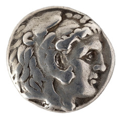 A coin depicting Alexander the Great