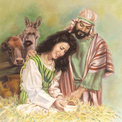 Joseph and Mary with baby Jesus