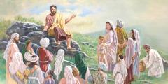 Jesus teaches his followers