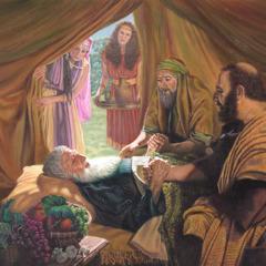 Avraam aflat pe patul de moarte