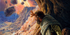 Elijah watches a demonstration of Almighty God's great power