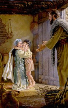 بیوهزنی پسر کوچک خود را که ایلیا رستاخیز داده است، با شادی در آغوش میگیرد.