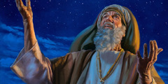 Abraham gazes up at the countless stars in the heavens