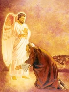 An angel refuses to allow the apostle John to worship him