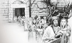 People obey Jesus by leaving Jerusalem