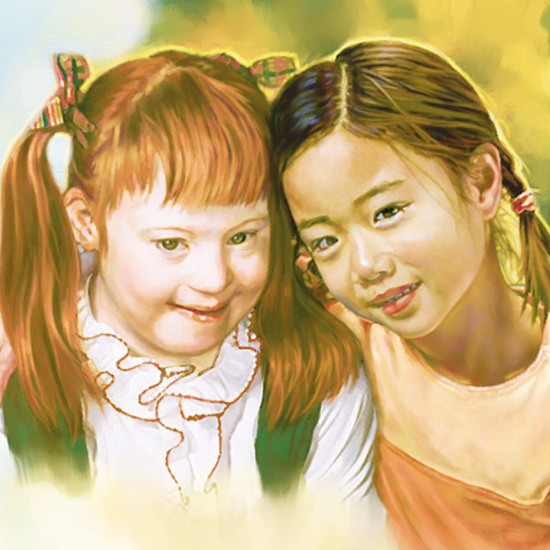 Dos niñas pequeñas