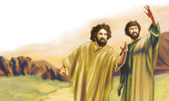 The apostles James and John are angry