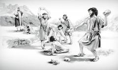 Савл смотрит, как Стефана побивают камнями