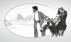 Joseph protects Jesus by taking him and Mary to Egypt