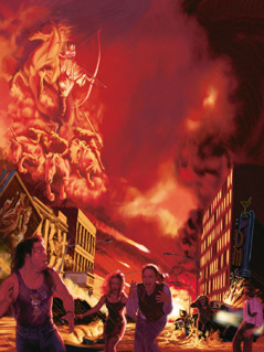 Jesus Kristus og hans himmelske hær ødelegger den onde verden i Harmageddon