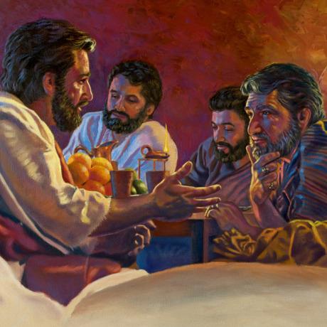عیسی در خانهای به مردم موعظه میکند