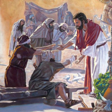 عیسی بیماران را لمس میکند و شفایشان میبخشد