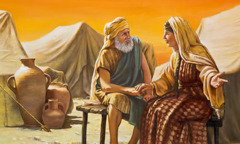 Abrahán kikajtok Sara