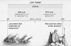 Oversigt: De syv tider, eller hedningernes tider, beregnet fra Jerusalems fald til de 2.520 år udløb i oktober 1914