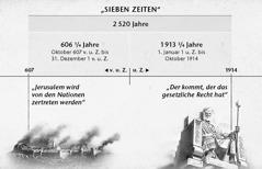 Übersicht: Die sieben Zeiten oder Zeiten der Heiden (2520 Jahre), gerechnet vom Fall Jerusalems bis Oktober 1914