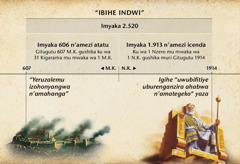Igicapo: Vya bihe indwi, ari vyo bihe vy'Abanyamahanga, vyaharuwe uhereye igihe Yeruzalemu yatemba gushika haciye imyaka 2.520 yarangiye muri Gitugutu 1914