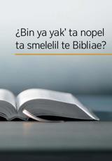 Jpajk Biblia te jamal sok stituloil te libro «¿Bin ya yak' ta nopel ta smelelil te Bibliae?»