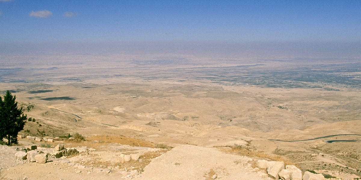 Vista de las llanuras de Moab