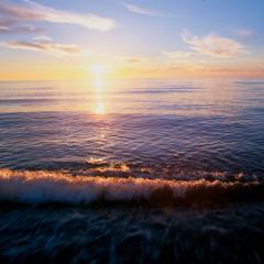 Океан үзәриндә ҝүнәшин ҝөзәл гүрубу