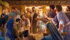 Noen i menigheten i Jerusalem i det første århundre diskuterer med Paulus og Barnabas