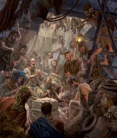 Bulus yük gəmisinin anbarında taqətdən düşmüş adamlar üçün dua edir