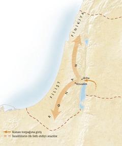 Kənan torpağının xəritəsi[Xəritə: səhifə 11]