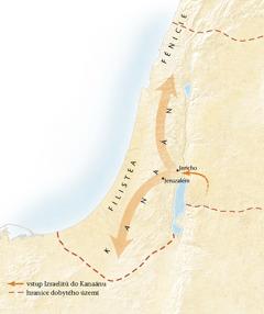 Mapa Kanaánu